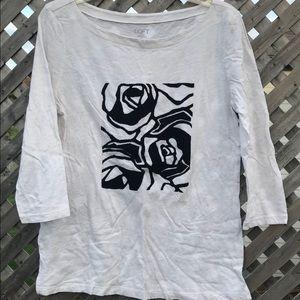 Loft 3/4 sleeve T-shirt size medium